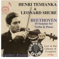 Beethoven Violin Sonatas - Temianka,henri/shure,leonard