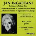 JAN DEGAETANI IN CONCERT, VOLUME TW - Degaetani, J./luvisi, L