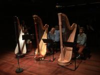 Composing a triple harp concerto, Holland Baroque.
