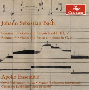 Sonatas for violin and harpsichord; Sonatas for violin and basso continuo