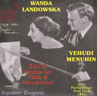 Yehudi Menuhin, Vol. 2: Bach Sonatas for Violin & Harpsichord