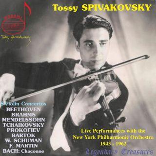 Tossy Spivakovsky Live: 8 Violin Concertos