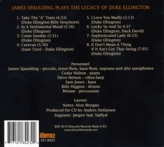 James Spaulding  - Plays The Legacy Of Duke Ellington