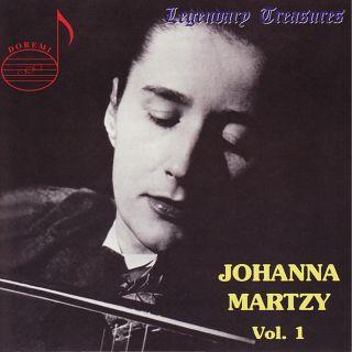 Legendary Treasures Vol. 1 / Johanna Martzy