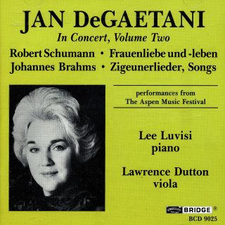 JAN DEGAETANI IN CONCERT, VOLUME TW