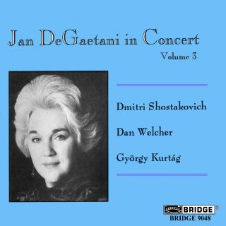 JAN DEGAETANI IN CONCERT VOLUME 3
