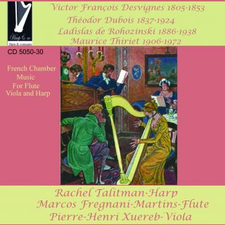 French Chamber Music for flute, viola & harp