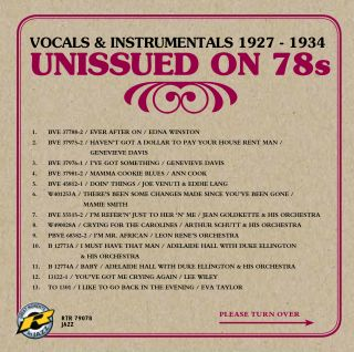Vocals & Instrumentals 1927 - 1934 | Unissued on 78s