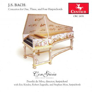Concertos For One, Three, And Four Harpsichords