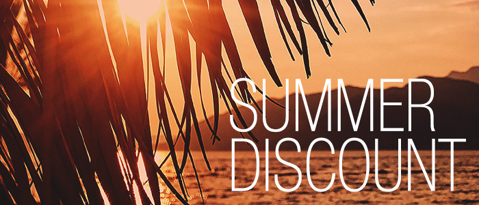 SUMMER DISCOUNT - 20% discount on everything!